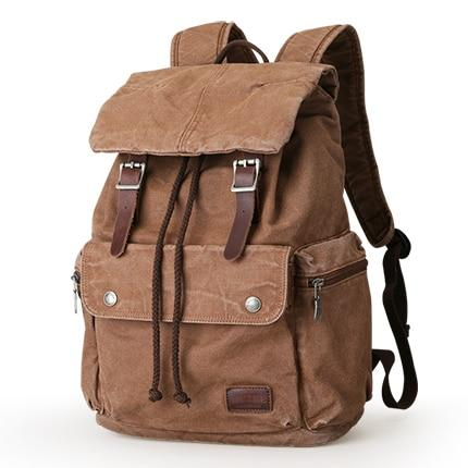 Backpack men canvas high capacity 15.6 inches laptop bag suit weekend bags