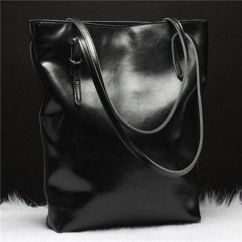 Handbag ladies genuine leather shoulder fashion designer casual tote bag large capacity shopping