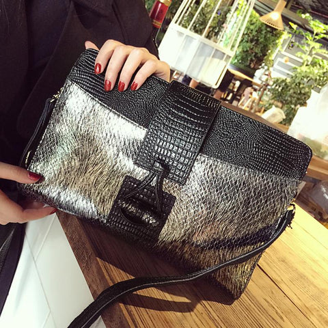 Bag for women luxury designer cowhide alligator day clutch party evening wedding small single shoulder chain