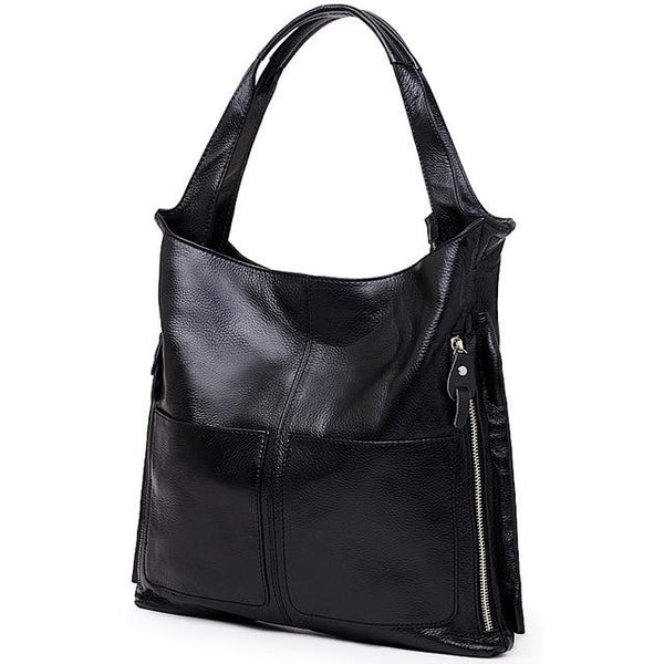 Bag ladies vintage brand genuine leather cowhide large capacity tote famous design crossbody