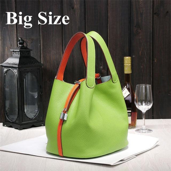 Bag women's luxury handbags famous brands genuine leather designer brand totes bucket
