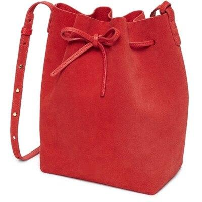 Bag women faux suede bucket leather suede shoulder
