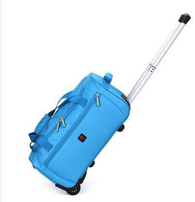 Luggage oxford cabin travel trolley waterproof suitcase on wheels rolling bags