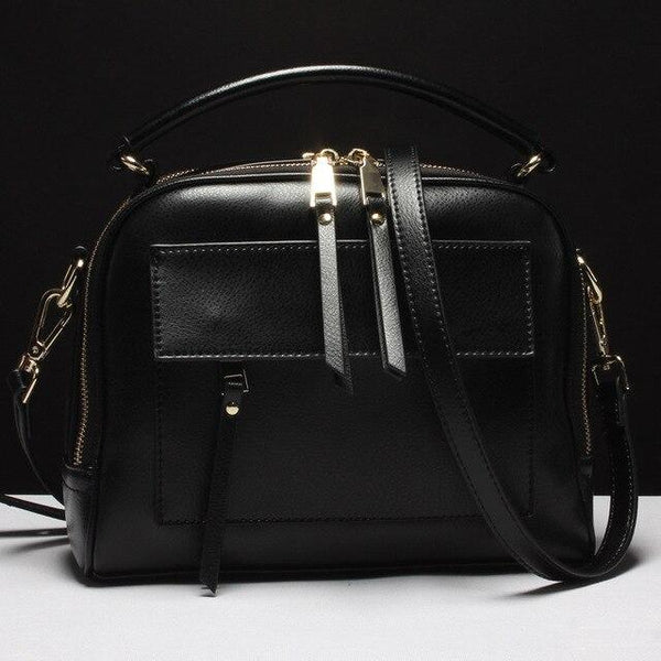 Handbag lady 100% real leather zipper pocket casual tote fashion crossbody messenger purse with tassel shoulder bag