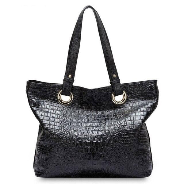 Handbag women alligator shoulder bag 100% genuine leather crocodile large capacity messenger crossbody purse