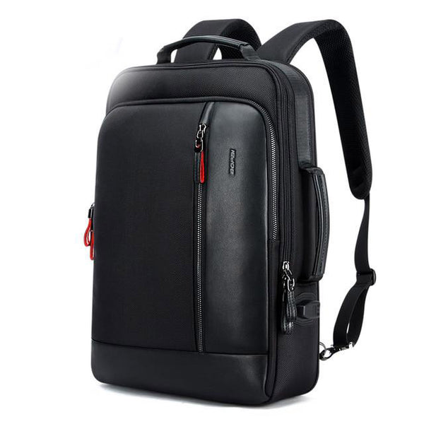 Backpack men oxford waterproof travel capacity can be enlarged cool shoulder schoolbag