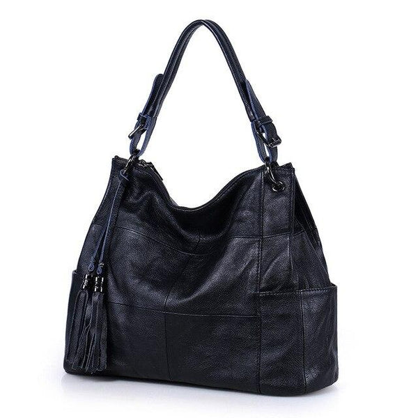 Handbags women's natural cowskin soft leather tote fashion tassels real cowhide shoulder messenger