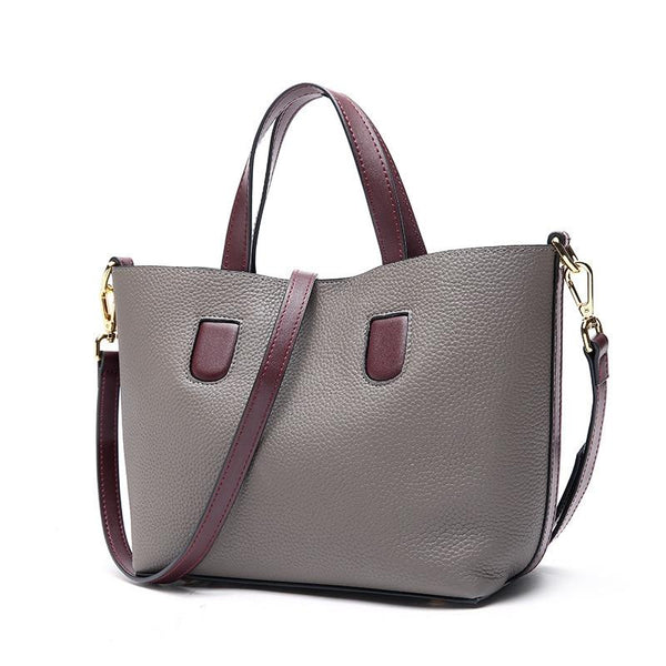 Bag women's genuine leather set of two pieces cowhide handbag shoulder shopping