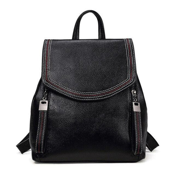 Backpacks women 100% guarantee genuine leather small