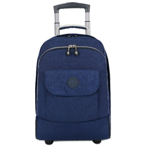 Backpack rolling luggage travel shoulder spinner high capacity wheels for suitcase trolley carry on duffle bag