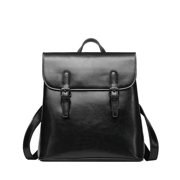 Backpacks female split leather