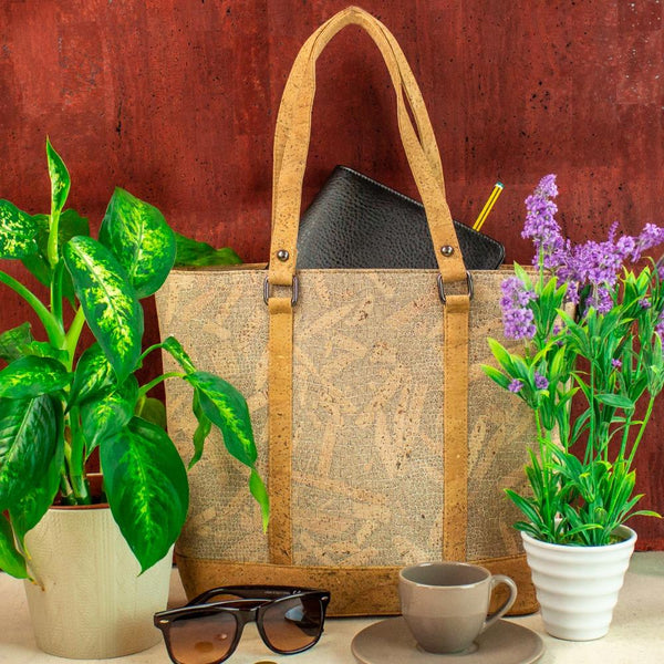 Bags for women cork handbag natural with wood grain handmade original fashion