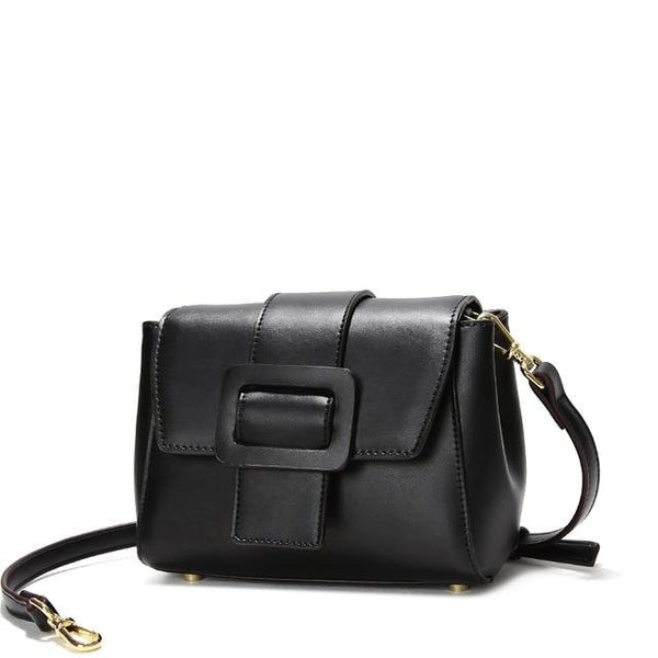 Bag women messenger split leather fashion belt buckle decoration shoulder crossbody small