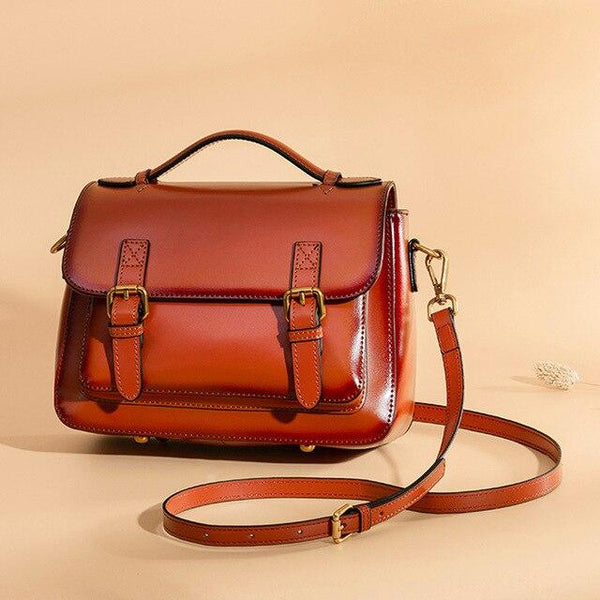 Bags women brand vintage flap genuine leather fashion crossbody postman handbags shoulder two size