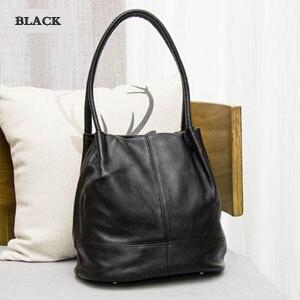 Handbag women's genuine leather for fashion shoulder bag cowhide cross body casual messenger