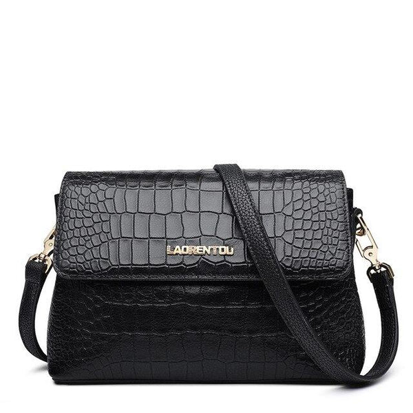 Bag women alligator crossbody split leather vintage shoulder valentine's day gift