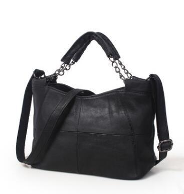 Bag women fashion real genuine leather chains handbag shoulder tote messenger satchel