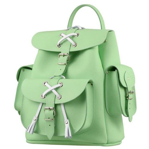 Backpack women fashion pu leather brand drawstring shoulder teenage