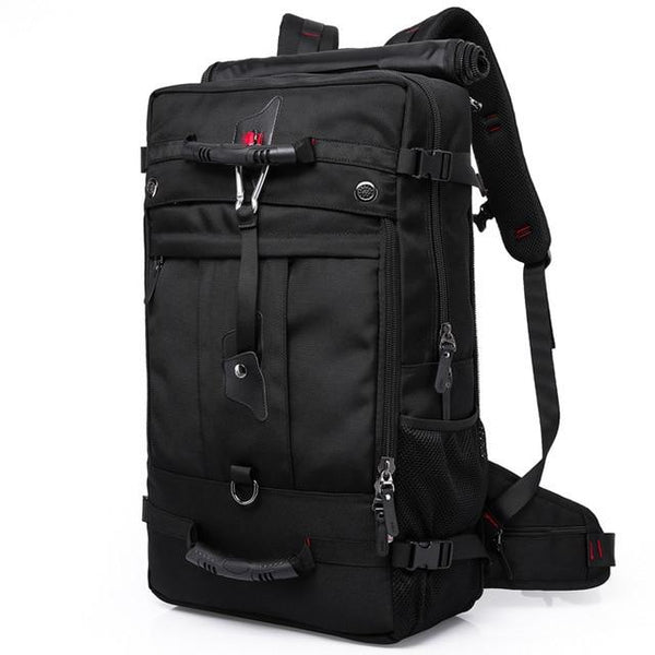 "Backpack men designer travel large capacity 50L versatile multifunctional waterproof luggage for 17"""" laptop"