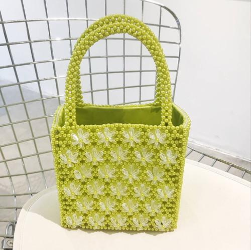 Handbag women pearls bag beaded floral box totes vintage party flower luxury brand wholesale