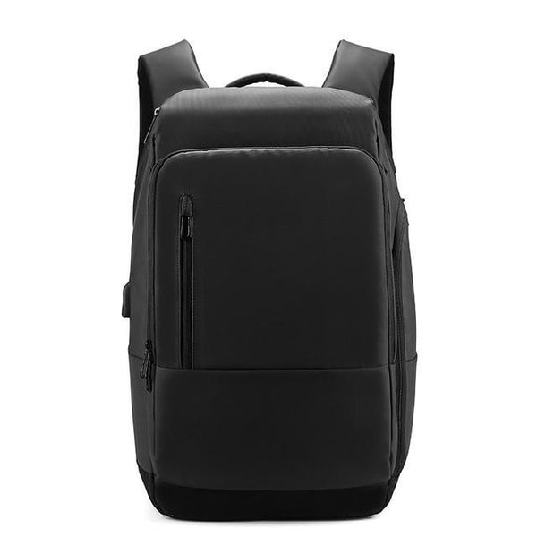 Backpack men 17 inch laptop water repellent functional rucksack with usb charging port travel