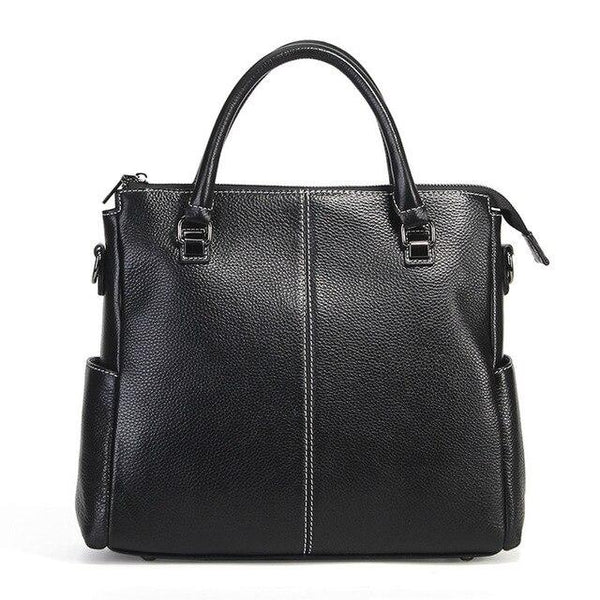 Handbag female 100 real cow leather fashion casual tote elegant crossbody messenger purse shoulder