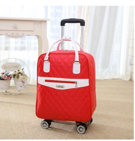 "Bag universal wheel trolley case boutique luggage oxford suitcase multi-function double shoulder travel tote 20""boarding box"