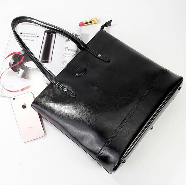 Handbag women 100% genuine leather fashion shoulder bag large capacity shopping tote purses