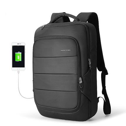 Backpack male fit 15.6 inch laptop multifunctional usb recharging waterproof travel anti-thief