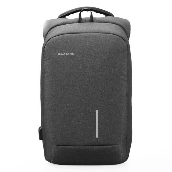 Backpack men anti-theft lock phone sucker laptop bags 13''15'' usb charging school shoulder