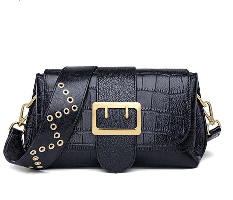 Handbag women genuine leather shoulder patchwork messenger crossbody fashion purse clutches