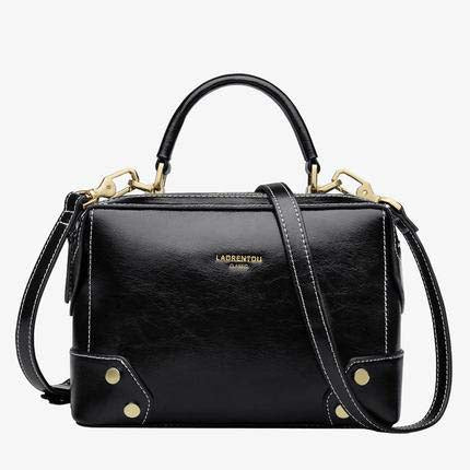 Bags female vintage solid leather messenger chic classy small shoulder crossbody
