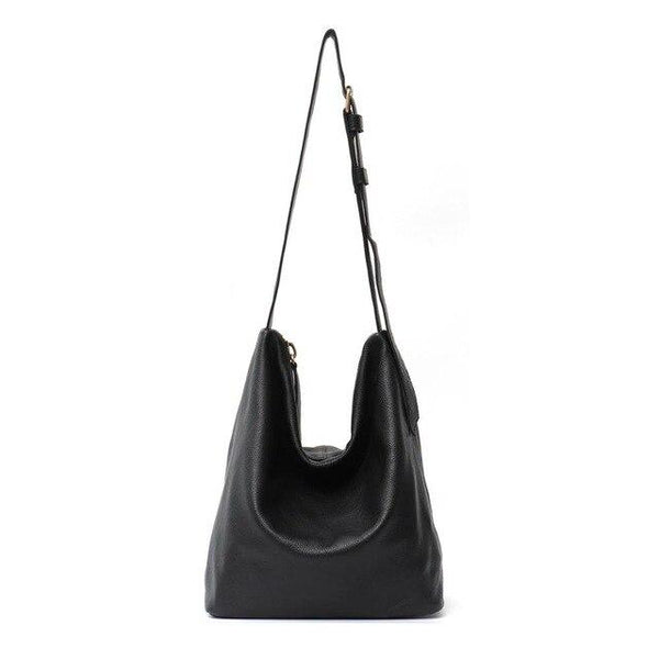 Handbags women leather vintage luxury genuine large hobo solid long strap big cross body shoulder