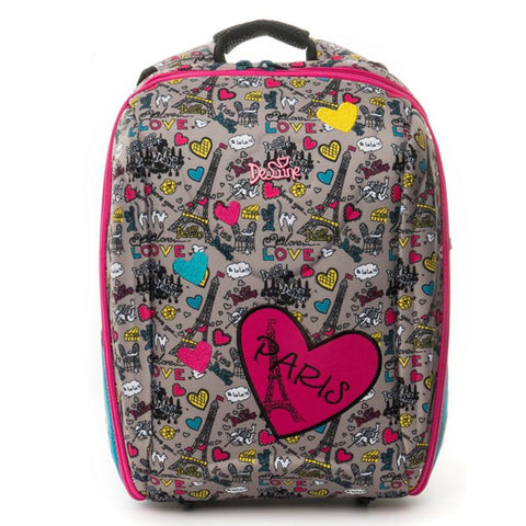 Backpack children for girls cartoon paris pattern orthopedic school bags student satchel