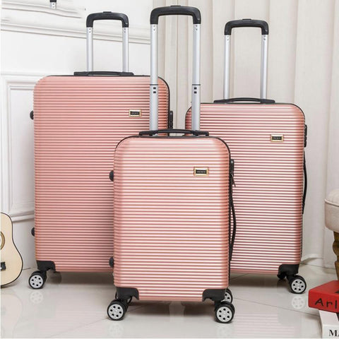 Luggage unisex 20/24/28 inch rolling sipnner wheels abs+pc travel suitcase fashion cabin carry-on trolley box