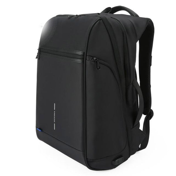 Backpack man fit 15 17 inch laptop usb recharging multi-layer space travel bag anti-thief
