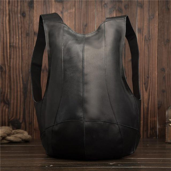 Backpack unisex genuine leather mini business messenger retro casual tote bag pack shoulder travel cowhide