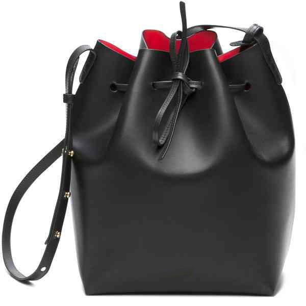 Bag women bucket split leather shoulder bag real cross