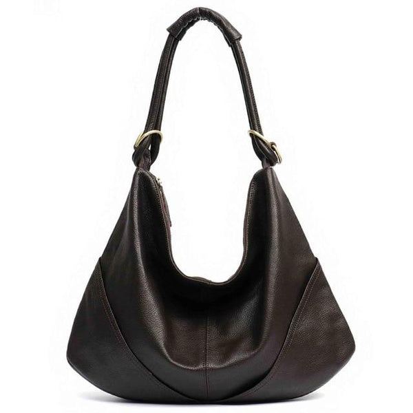 Handbag women's soft real genuine leather shoulder hobo large luxury cowhide totes