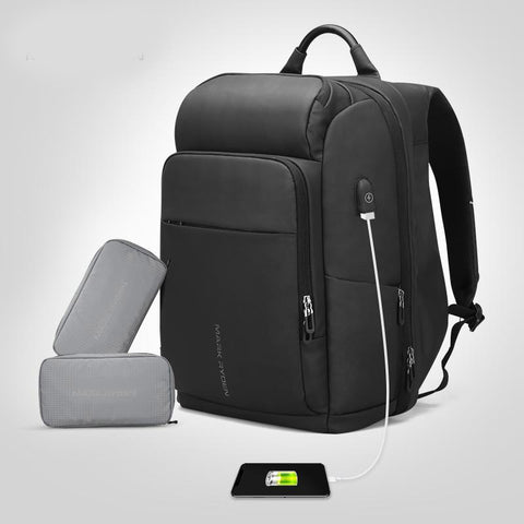 Backpack men multifunction usb charging 17 inch laptop bag large capacity waterproof travel