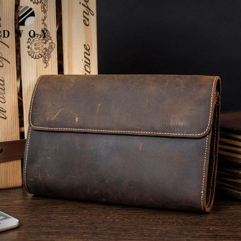 Wallets men genuine leather clutch bag phone card holder male purse
