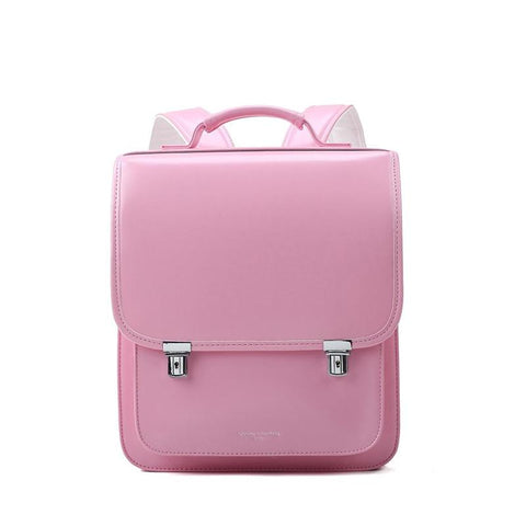 Backpack children school bag orthopedic students pu leather