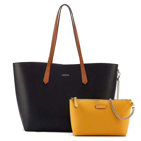 Bags female totes simple large-capacity handbag fashion shoulder with small clutch metal chain detachable