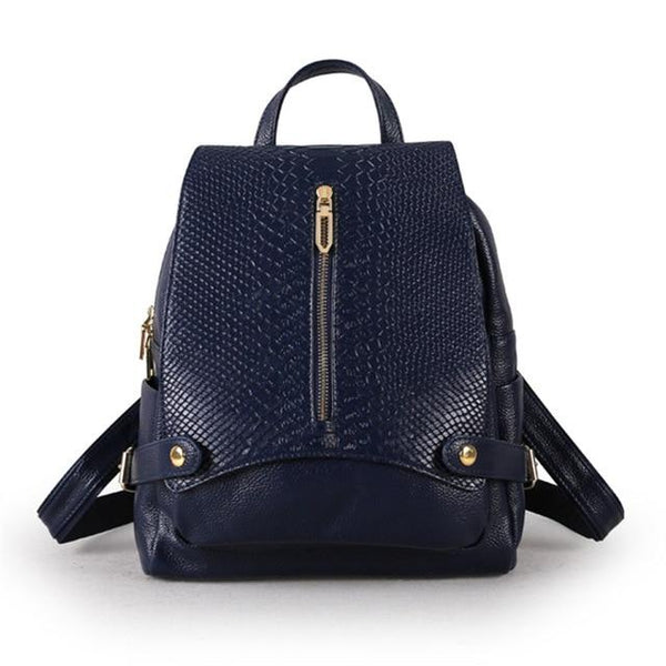 Backpack women fashion genuine leather travel bags