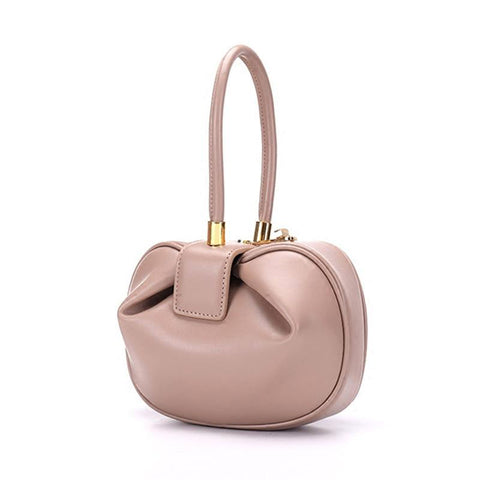 Bags women elegant spherical cow genuine leather small designer handbags luxury tote