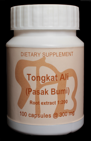 300mg 1:200 Tongkat Ali Root Extract, 100 Capsules