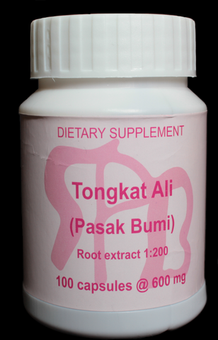 600mg 1:200 Tongkat Ali Root Extract, 100 Capsules