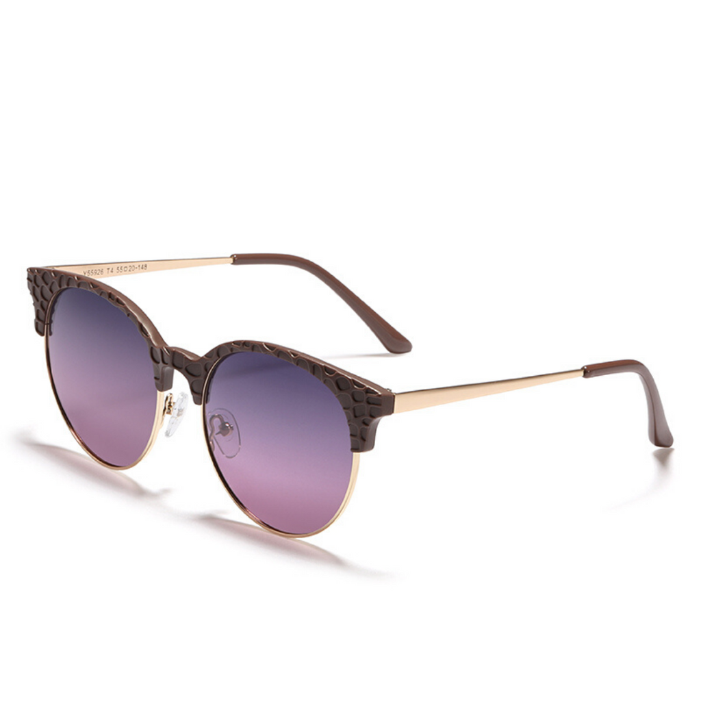 Unisex round sunglasses with metal frames Kroc