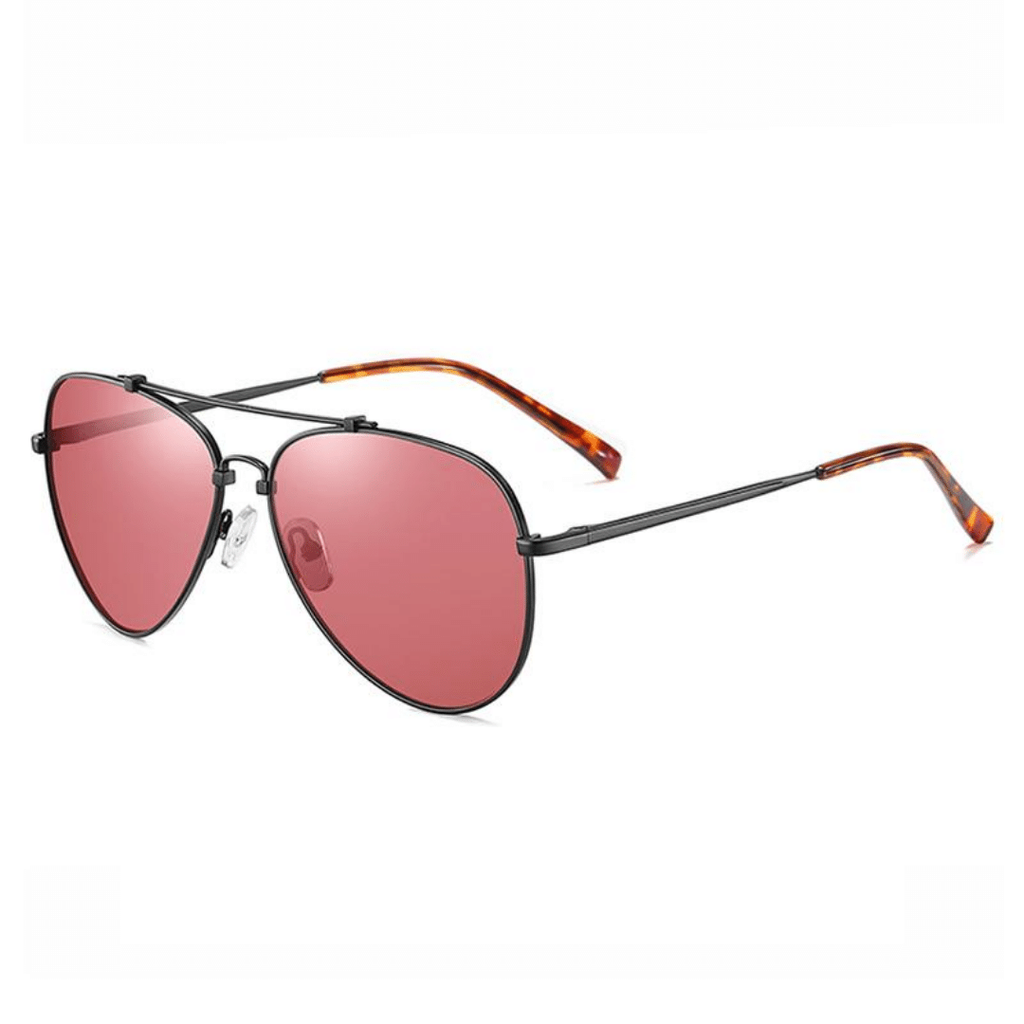 Unisex polarized aviators with brow bar sunglasses Echo