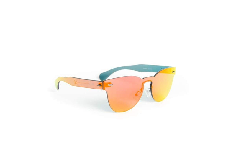 "Specialty Coated Sunglasses Designer Sunglasses Model ""Autumn Phoenix"" Orange By: Ever Collection NYC"